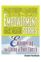 Empowering the Giving of Your Church - Student Handbook