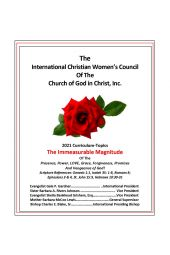 "Christian Women's Council Curriculum-Topics 2021: ""The Immeasurable Magnitude"""