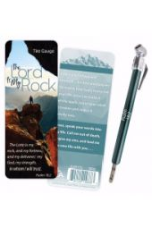 Tire Gauge-The Lord Is My Rock w/Card (Psalm 18:2 KJV)