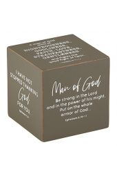"Quote Cube-Dad/Man Of God (3"" x 3"")"