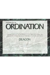 Certificate - Ordination for Deacon