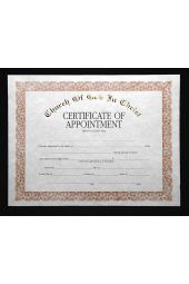 COGIC Certificate - Appointment