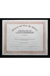 COGIC Certificate - Membership
