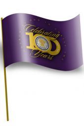 Car Window Flag - Centennial Seal (Purple)