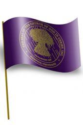 Car Window Flag - COGIC Seal (Purple)