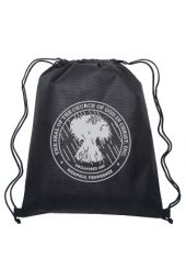 Drawstring Backpack with COGIC Seal (Black & Silver)