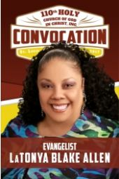 1110th Holy Convocation | Evangelist LaTanya Blake Allen