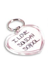 I Love Sunday School Key Tag