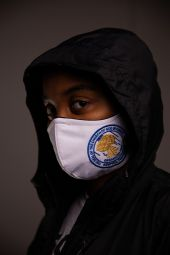 Face Mask White- COGIC Seal M/L