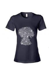 COGIC Wheat Crystal Rhinestone T-Shirt - Black