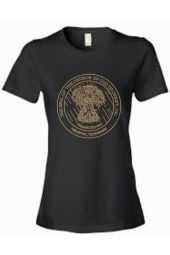 COGIC Seal Gold Rhinestone T-Shirt - Black [Pre-Order]