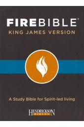 KJV Fire Bible, bonded leather black