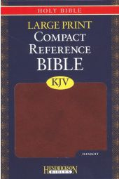 KJV Large Print Compact Reference Bible, Flexisoft Espresso