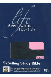 KJV Life Application Study Bible, TuTone Black/Patent Leather Pink