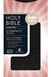 KJV Nelson Classic Compact Bible--bonded leather, black with snap flap