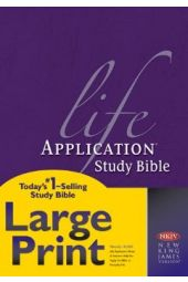 NKJV Life Application Study Bible. Large Print Hardcover