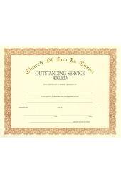 COGIC Certificate - Outstanding Service Award
