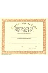 COGIC Certificate - Participation