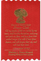 COGIC Prayer Cloths | 2 Chronicles 7:14 KJV - Red (Package of 10)