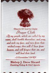 COGIC Prayer Cloths | 2 Chronicles 7:14 KJV - White (Package of 10)