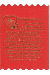 Prayer Cloths | Philippians 4:6,7 (Package of 10)