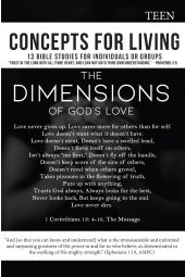 Concepts For Living | Teen: The Dimensions Of God's Love