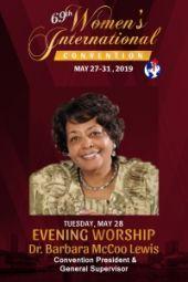 69th Women's International Convention | Dr. Barbara McCoo Lewis