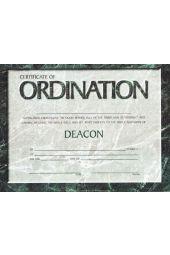 Certificate - Ordination for Deacon