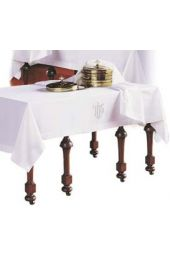Communion Table Cloth & Element Cover - Curved IHS