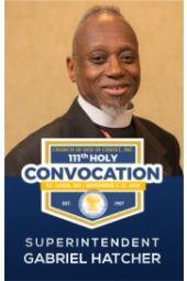 111th Holy Convocation   Superintendent Gabriel J. Hatcher, Sr.