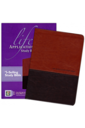 NKJV Life Application Study Bible, TuTone Leatherlike Brown/Tan