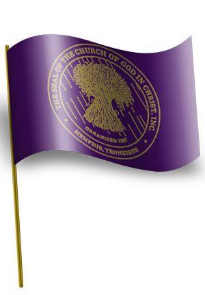 Car Window Flag Cogic Seal Purple