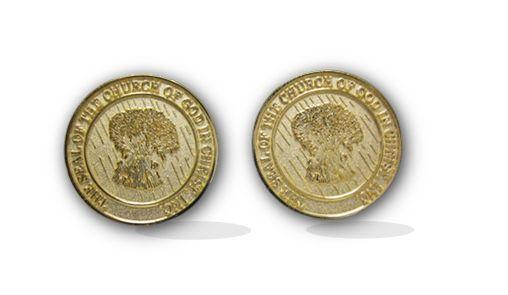 Cufflinks Cogic Seal Gold Tone Diecast