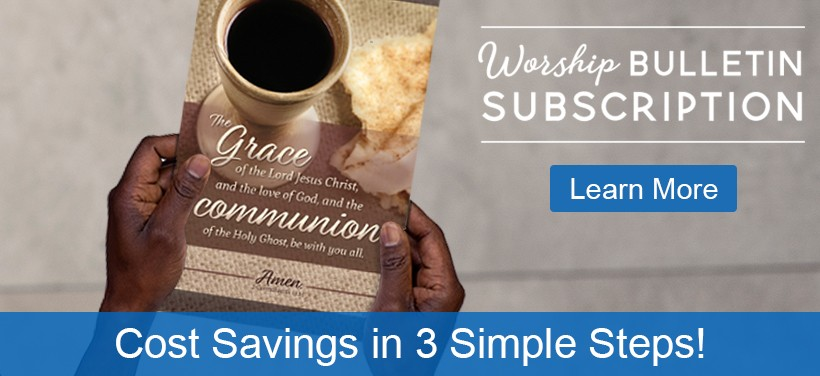Worship Bulletin Subscription